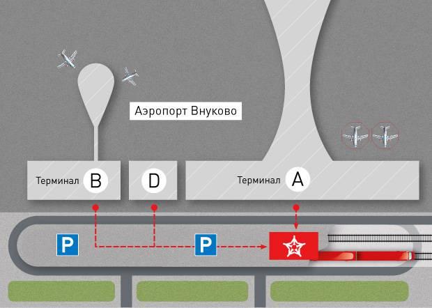 Терминал аэроэкспресса в аэропорту Внуково