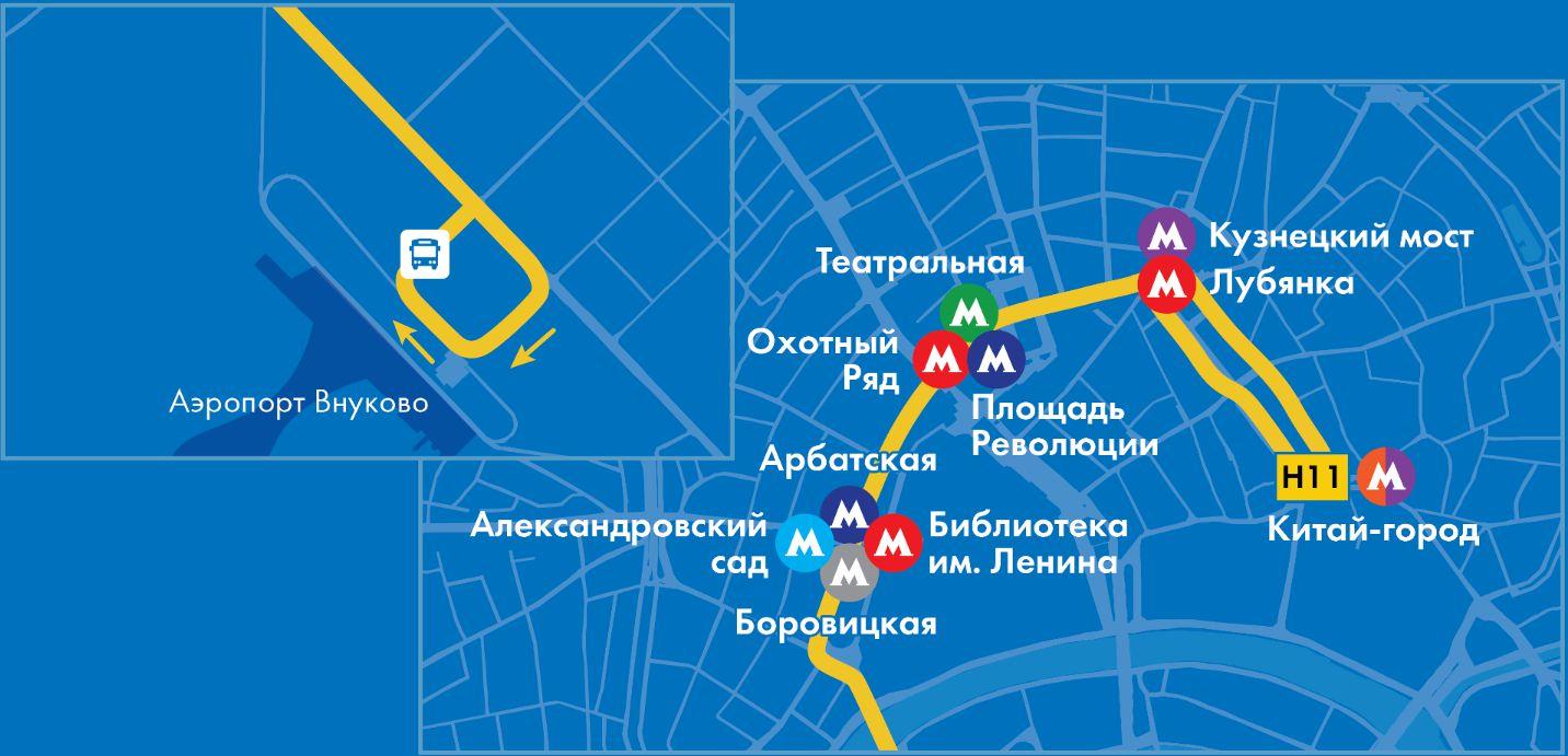 Автобус Н11: маршрут следования