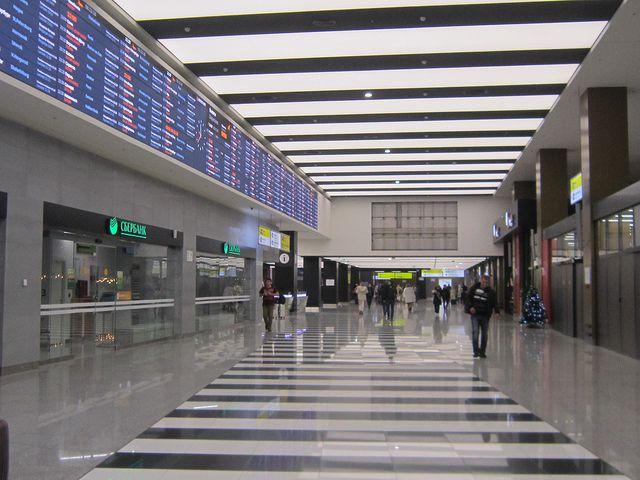Как добраться из терминала B до платформы Аэроэкспресса?